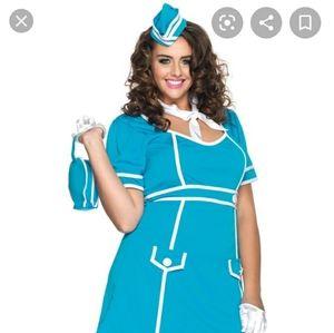 Plus Size Classic Flight Attendant Costume